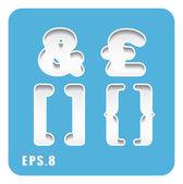 Ampersand, British pound symbols — Stock Vector
