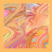 Abstract vector backgrounds set — Stock Vector
