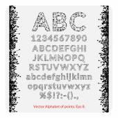 Set of alphabet of points — Stockvector