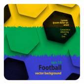 Football (soccer) background — Stock Vector