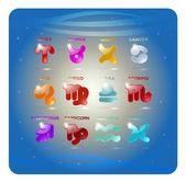 Zodiac astrological horoscope — Stock Vector