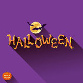 Halloween moon and bats — Stock Vector