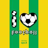 Láska fotbal fotbal — Stock vektor