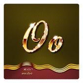 "Gold cursive letters ""O"" — Stock Vector"