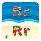 """Letters uppercase """"R"""" and lowercase """"r"""" — Vector de stock"""