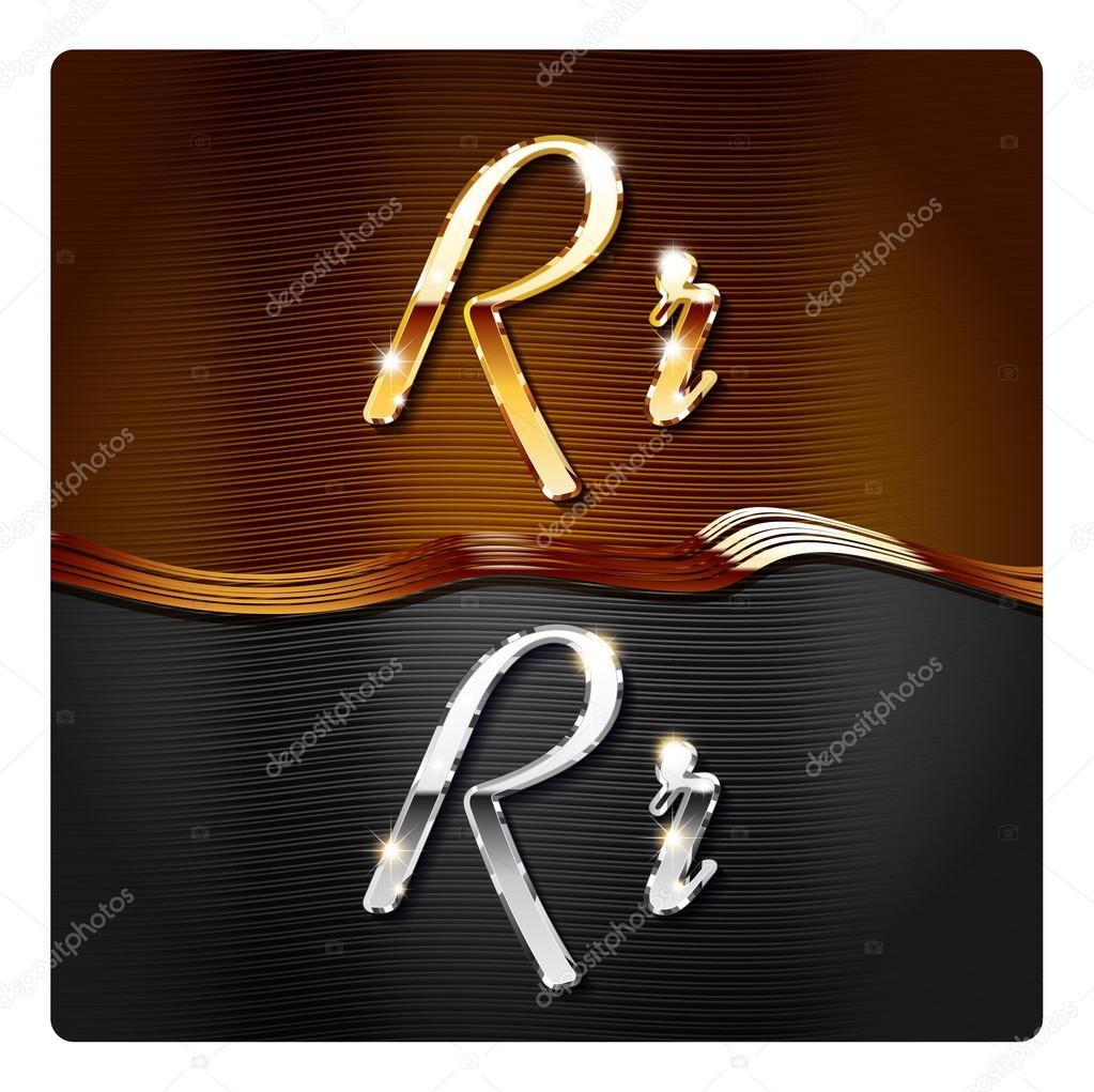 Golden stylish italic letters R   Stock Vector  73206359. Golden stylish italic letters R   Stock Vector   Mr Master  73206359