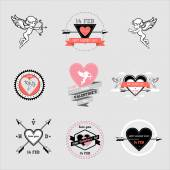 Day valentines icons set — Stock Vector