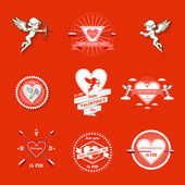 Day valentines symbols set — Stock Vector