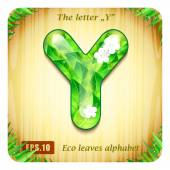 """Decorative glossy letter """"Y"""" — Stock Vector"""