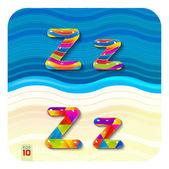 Multicolored letters Z — Stock Vector