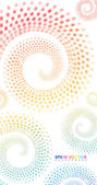 Spiral in pastel colors — Stock Vector