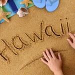 Hawaii beach writing — Stock Photo #65838801