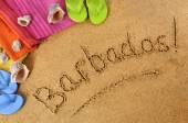 Barbados beach background — ストック写真