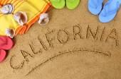 California beach background — Foto Stock
