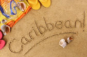 Caribbean beach background — Stock Photo