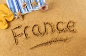 France beach writing — Foto de Stock