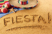 Fiesta beach writing — Stock Photo