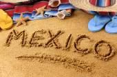 Mexico beach writing — Stock Photo