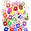 Painted handprints — Stock Photo #65952487