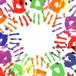 Handprints circle multicolor — Stock Photo #65954081