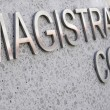 Magistrates Court sign in stainless steel — Stock Photo #67790117
