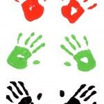 Handprints multicolor — Stock Photo #67923819