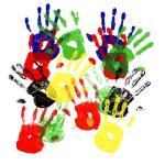Handprints multicolor — Stock Photo #67923827