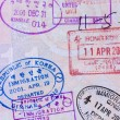 Asian passport page — Foto de Stock   #68424267