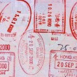 Asian passport page — Foto de Stock   #68424277