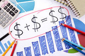Simple savings or retirement formula — Zdjęcie stockowe