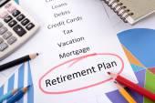 Planificación de la jubilación — Foto de Stock
