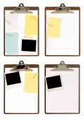Selection of clipboards with attachments — Stock Photo