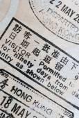 Macro of a Chinese Hong Kong permit — Stock Photo