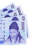 Korean Won currency bills  — Stock Photo