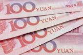 Chinese yuan notes or bills — Stock Photo