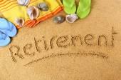 Retirement beach vacation — Stock Photo