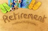 Retirement beach vacation — 图库照片