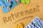Retirement beach vacation — Stock Photo