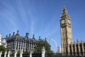 Big Ben view from Parliament Square — Stock Photo