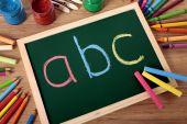 ABC basic reading and writing — Stock Photo