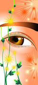 Eyes as chrysanthemums — Stock Vector
