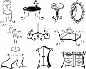 A set of furniture — Stock Vector