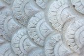 Texture of Stucco pattern white color wall — Stock Photo