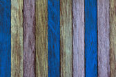 Abstract art color wood wall yellow blue shallow deep of field — Stock Photo