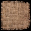 Burlap hessian square on black background — Stock Photo #75946783