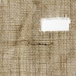 Texture of Burlap hessian  with frayed edges — Stock Photo #76984767