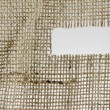 Texture of Burlap hessian  with frayed edges — Stock Photo #77076143