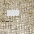 Texture of Burlap hessian  with frayed edges — Stock Photo #77076145