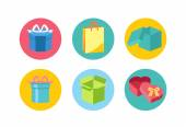 Open and closed box icons — Stock Vector