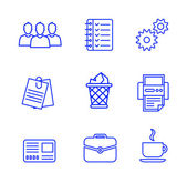 Business icons set.Vector illustration. — Stock Vector